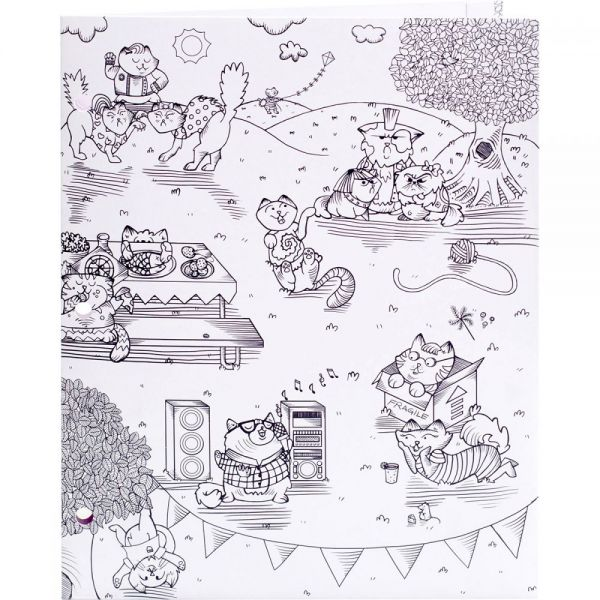 "Hall Pass Adult Coloring Folder 9.5""X12"""
