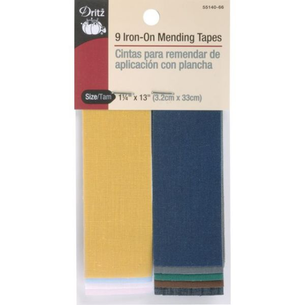"Iron-On Mending Tape 1-1/4""X13"" 9/Pkg"
