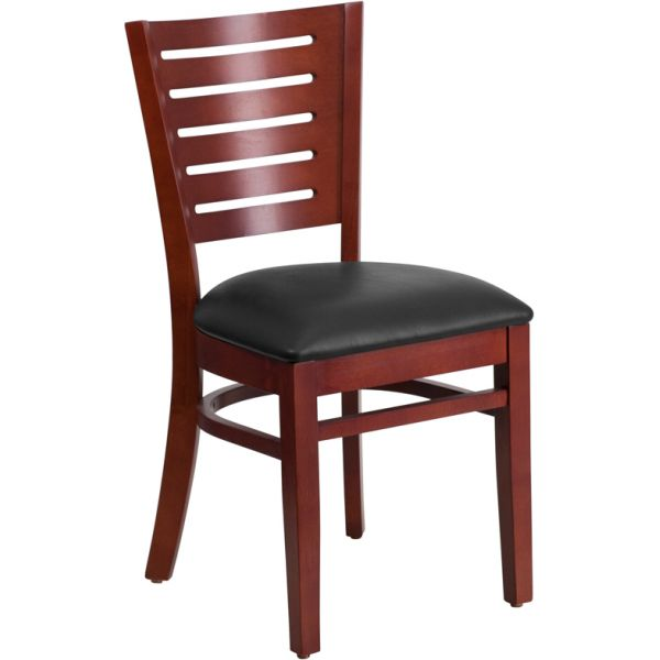 Flash Furniture Slat Back Mahogany Wooden Restaurant Chair