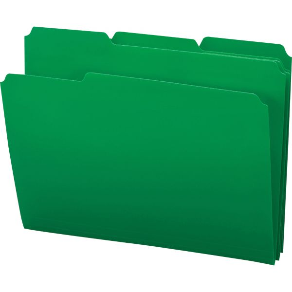 Smead Green Colored Poly File Folders