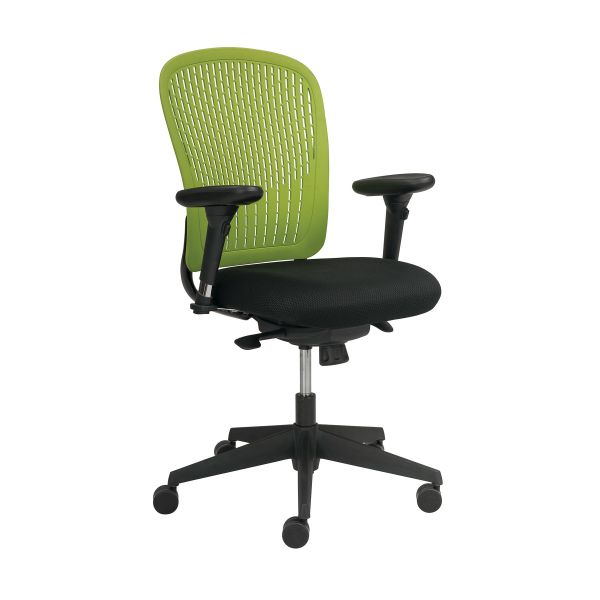 Safco Adatti Adjustable Arms Black Fabric Task Chair