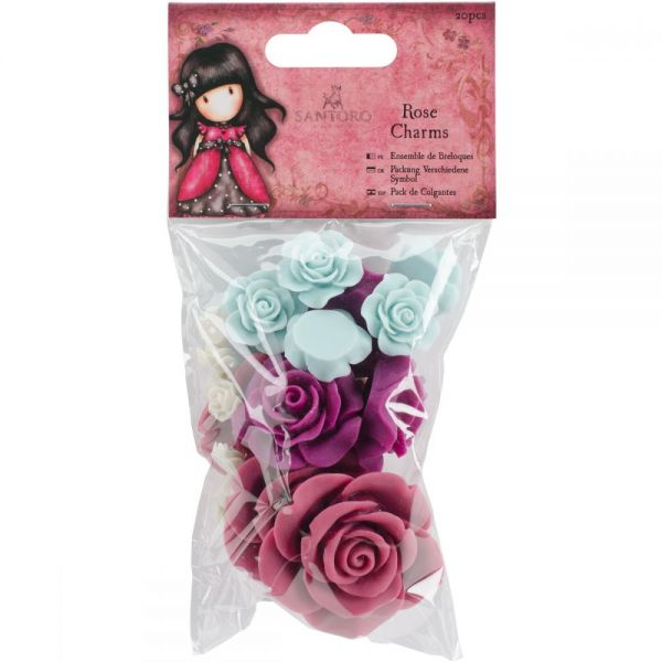 Santoro Gorjuss Rose Charms 20/Pkg