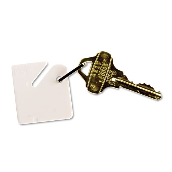 MMF Industries Snap-Hook Key Tag, White, 20 per Pack