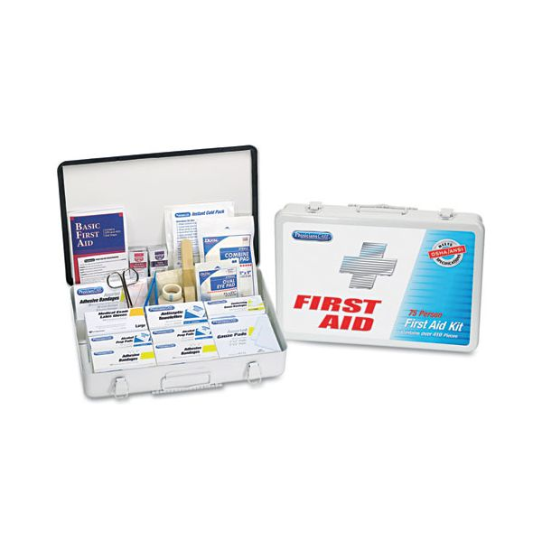 Acme United First Aid Kit for 50 People, 413 Pieces, OSHA/ANSI Compliant, Metal Case
