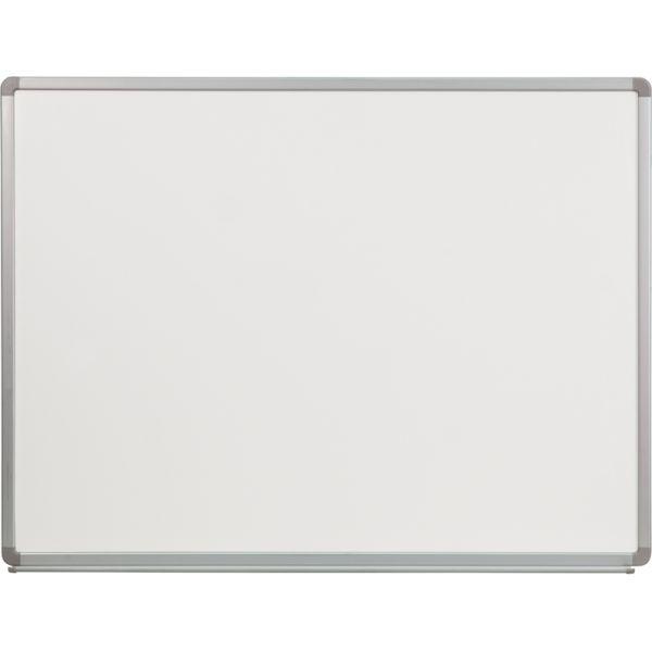 "Flash Furniture 48"" x 36"" Magnetic Porcelain Dry Erase Whiteboard"