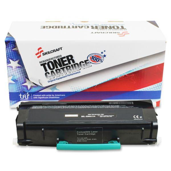 SKILCRAFT Remanufactured Lexmark E260A11A Black Toner Cartridge