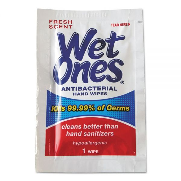 Wet Ones Individually Wrapped Antibacterial Hand Wipes