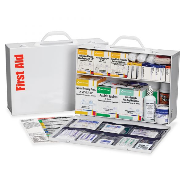 First Aid Only 2-shelf Industrial 1st Aid Station