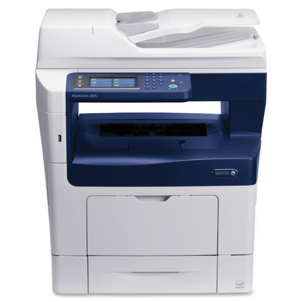 Xerox WorkCentre 3615DN Laser Multifunction Printer - Monochrome - Plain Paper Print - Desktop