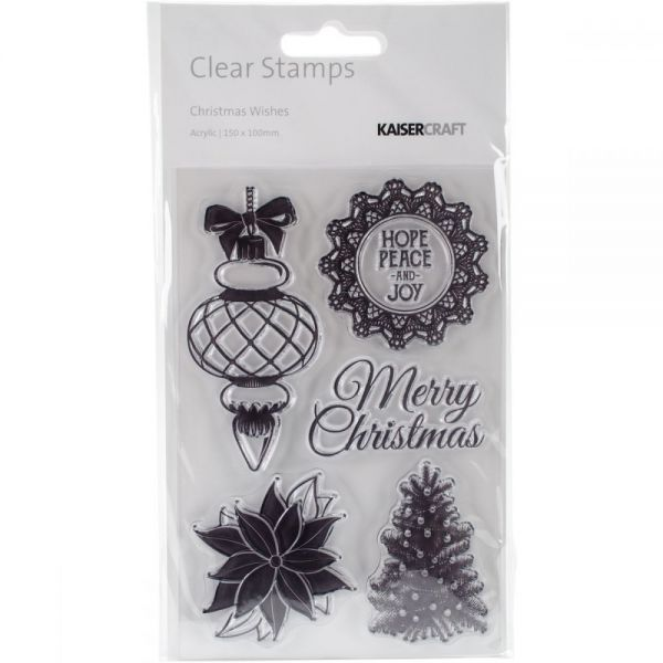 """Christmas Wishes Clear Stamps 6""""X4"""""""