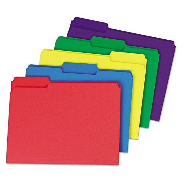 Universal One Heavyweight Colored File Folders