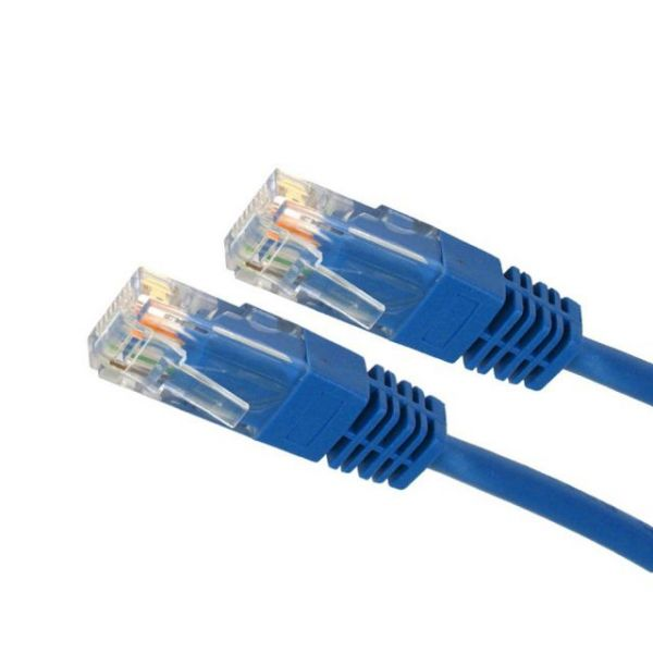 4XEM 50FT Cat5e Molded RJ45 UTP Network Patch Cable (Blue)