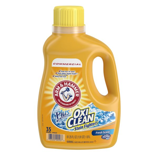 Arm & Hammer OxiClean Concentrated Liquid Laundry Detergent, Fresh, 61.25 oz Bottle