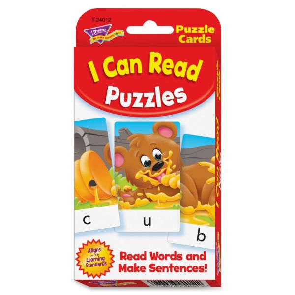 Trend I Can Read Puzzles Challenge Cards