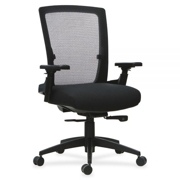 Lorell 3D Rotation Armrests Mid-back Office Chair