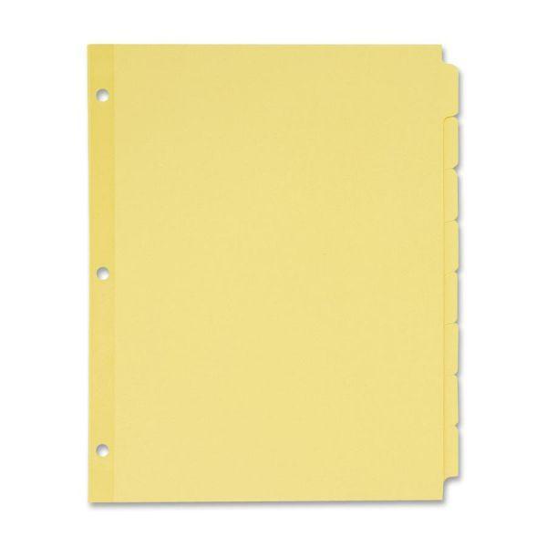 Avery Write-On Plain-Tab Dividers, 8-Tab, Manila Tab, Letter, 24 Sets