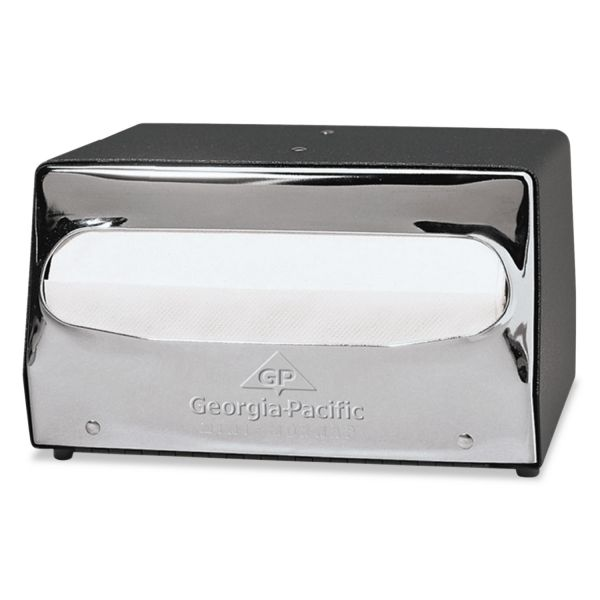 Georgia Pacific Professional Mini MorNap Mini-Fold Tabletop Napkin Dispenser, 7 1/2 x 6 x 4 3/8, Black/Chrome