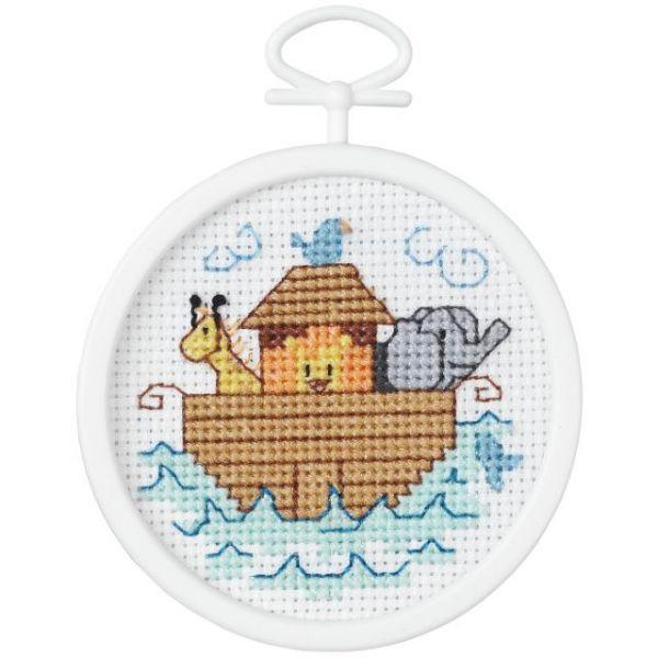 Janlynn Noah's Ark Mini Counted Cross Stitch Kit