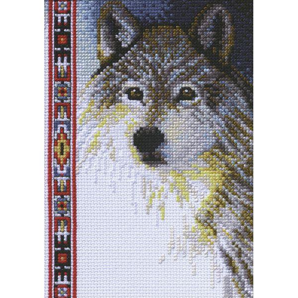 Janlynn Wildlife Wolf Mini Counted Cross Stitch Kit
