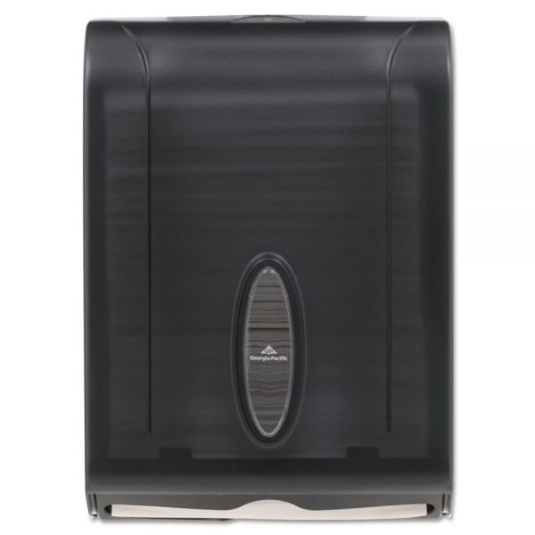 Georgia Pacific Professional C-Fold/Multifold Towel Dispenser, 11 x 5 1/4 x 15 2/5, Translucent Smoke