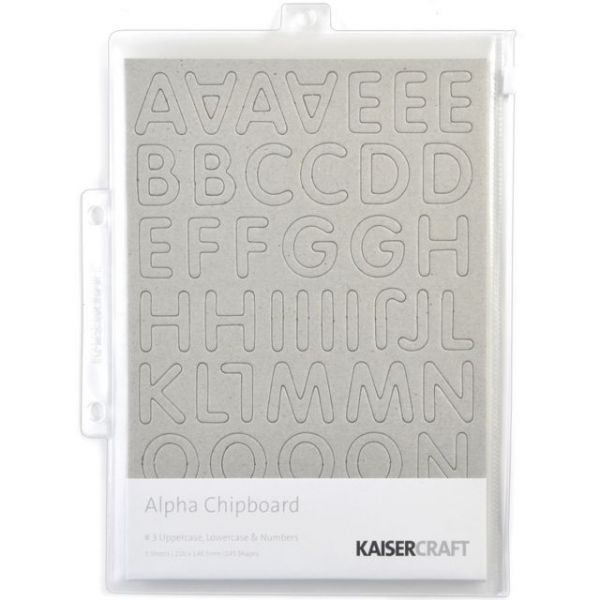 "Chipboard Alphabet #3 8.25""X5.75"" Sheets 3/Pkg"