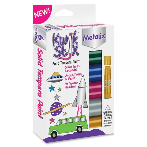 Kwik Stix Metalix Solid Tempera Paint Sticks