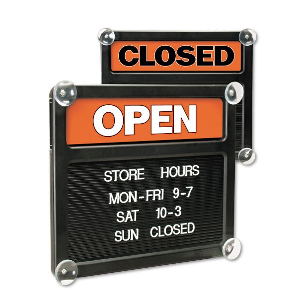 Headline U.S. Stamp & Sign Open/Closed Letter Board Sign