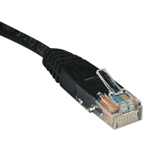 Tripp Lite CAT5e Molded Patch Cable, 2 ft., Black