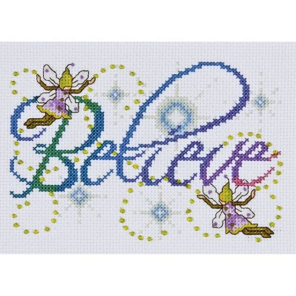 Believe Counted Cross Stitch Kit