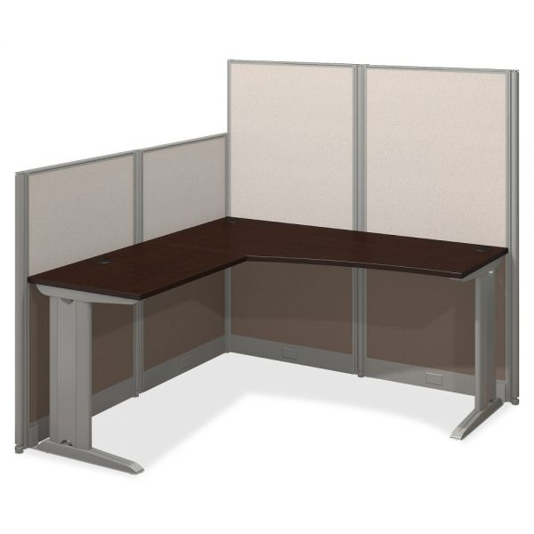 Bush Business Furniture Mocha Cherry U-Workstation Box 1/3