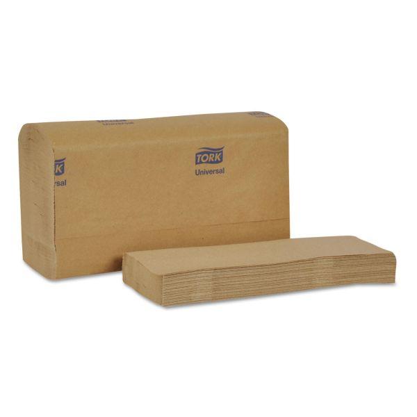 Tork Universal Multifold Hand Towel, 9 1/8 x 9 1/2, 1-Ply, Natural, 250 Sheets/Pack, 16 Packs/Carton