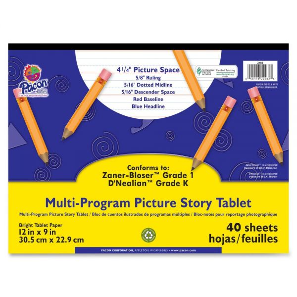 Pacon Multi-Program Picture Story Tablet