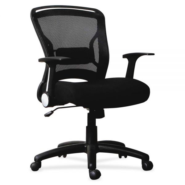 Lorell Flipper Arm Mid-back Office Chair