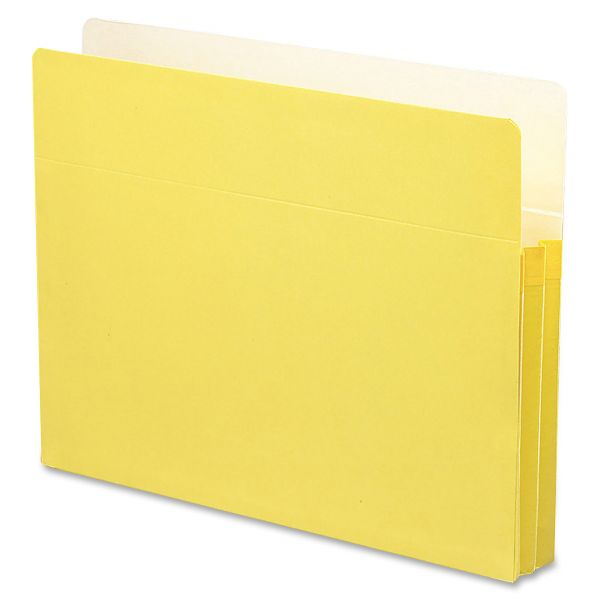 Smead TUFF Pocket Yellow Colored Expanding File Pocket