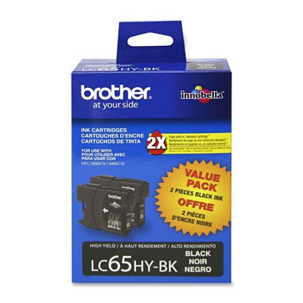 Brother LC65HYBK Black High Yield Ink Cartridges