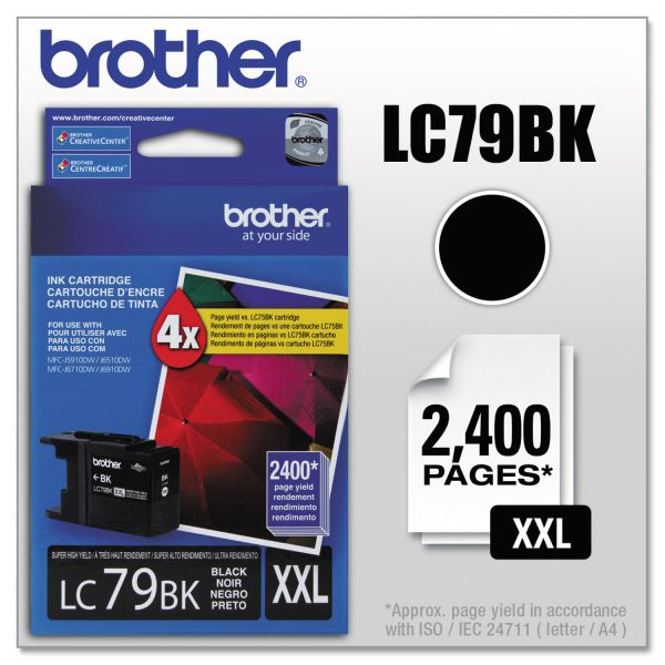 Brother LC79BK Innobella Super High-Yield Ink, Black