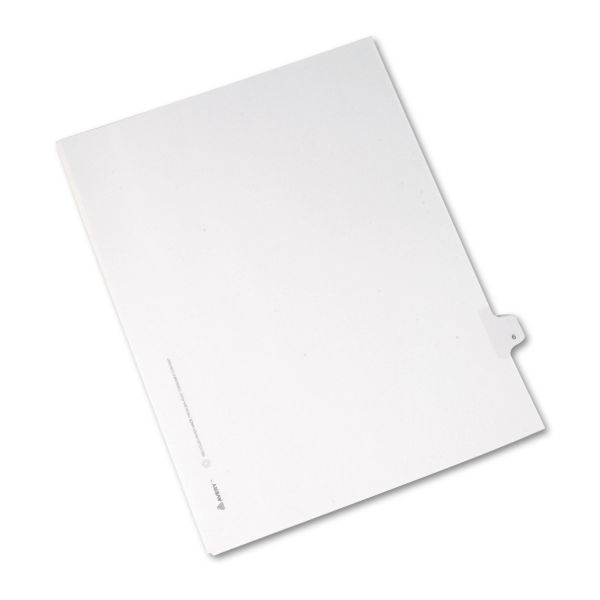 Avery Allstate-Style Legal Exhibit Side Tab Divider, Title: 6, Letter, White, 25/Pack