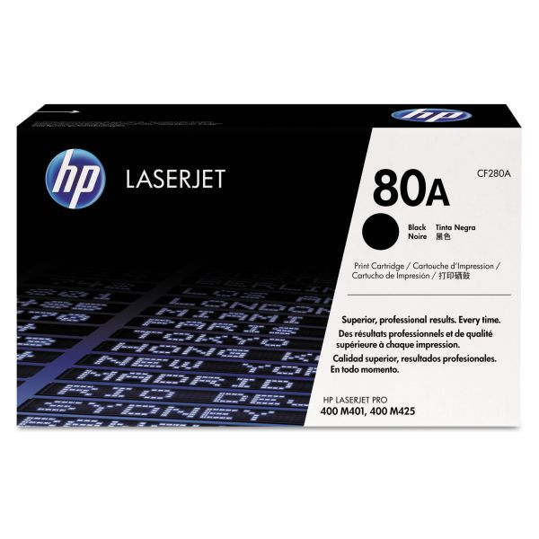 HP 80A, (CF280A) Black Original LaserJet Toner Cartridge