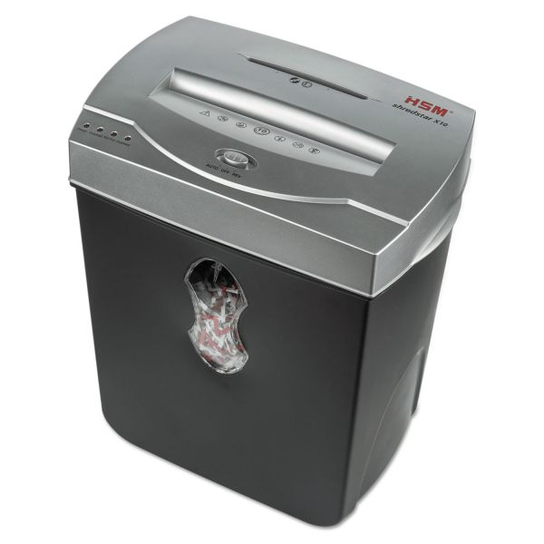 HSM of America ShredStar X10 Heavy-Duty Cross-Cut Shredder