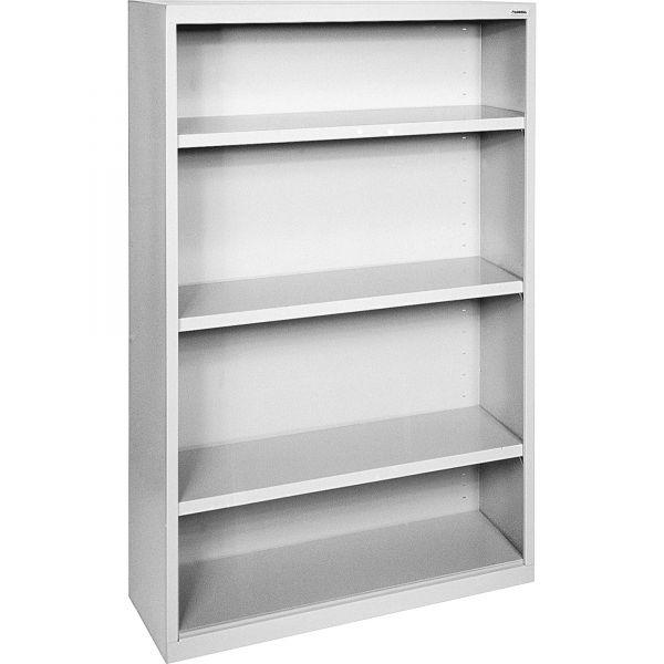 Lorell Fortress Series 4-Shelf Steel Bookcase