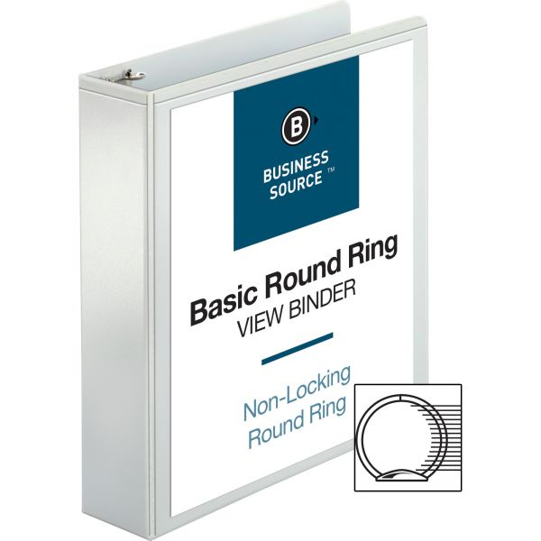 """Business Source 2"""" 3-Ring View Binder"""