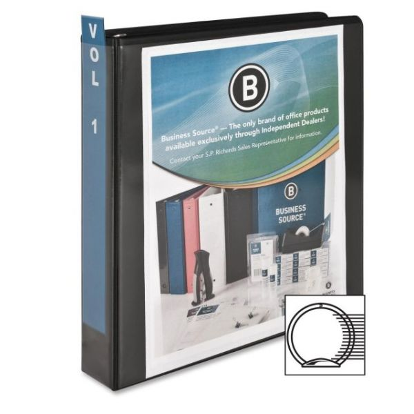 "Business Source Standard 1 1/2"" 3-Ring View Binder"
