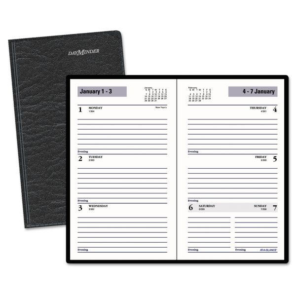 AT-A-GLANCE DayMinder Weekly Pocket Planner, 3 1/2 x 6 3/16, Black, 2019