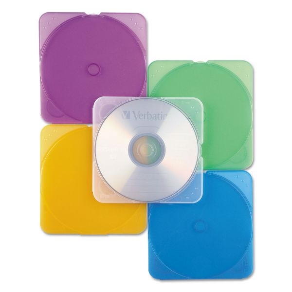 Verbatim CD/DVD Color TRIMpak Cases - 10pk, Assorted