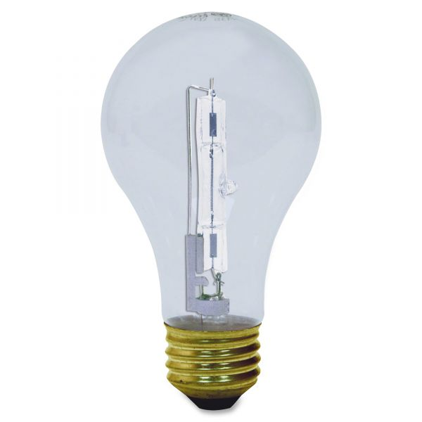 GE Halogen Bulb, Globe, 72 Watts, 2/Pack