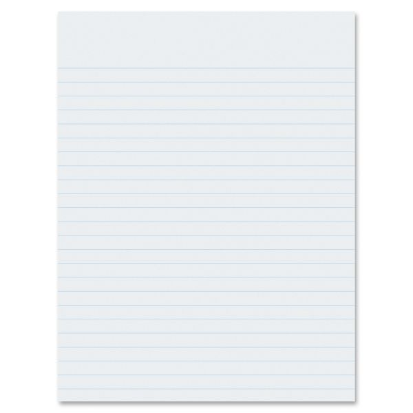 "Pacon Essay/Composition Paper, Ruled, No Margin, 8"" x 10.5"", White, 500 Sheets/Ream"