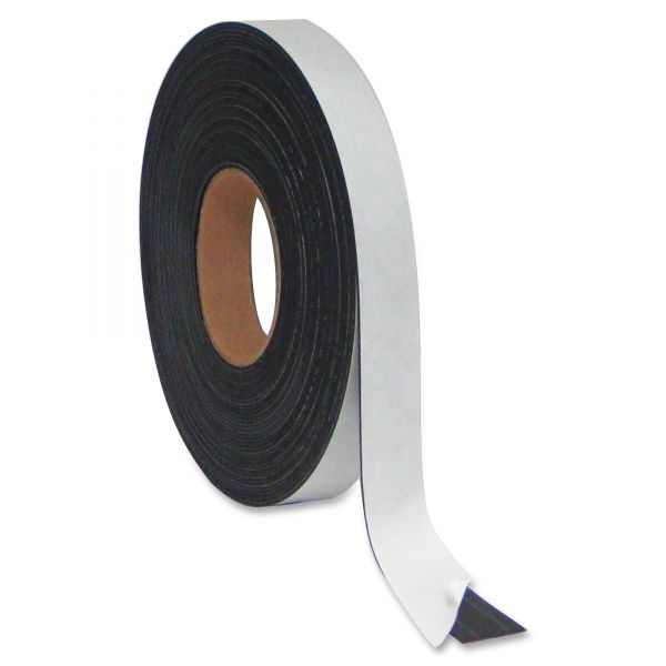 "MasterVision Magnetic Adhesive Tape Roll, 1/2"" x 50 Ft., Black"