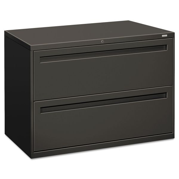 HON 700 Series Two-Drawer Lateral File, 42w x 19-1/4d, Charcoal