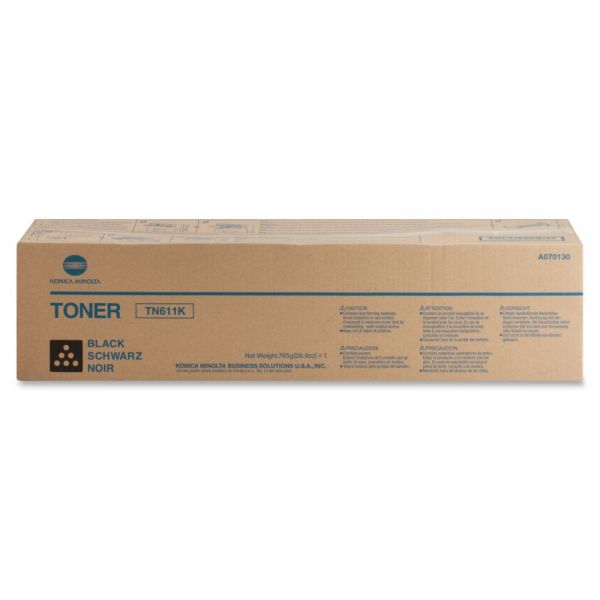 Konica Minolta TN-611K Black Toner Cartridge