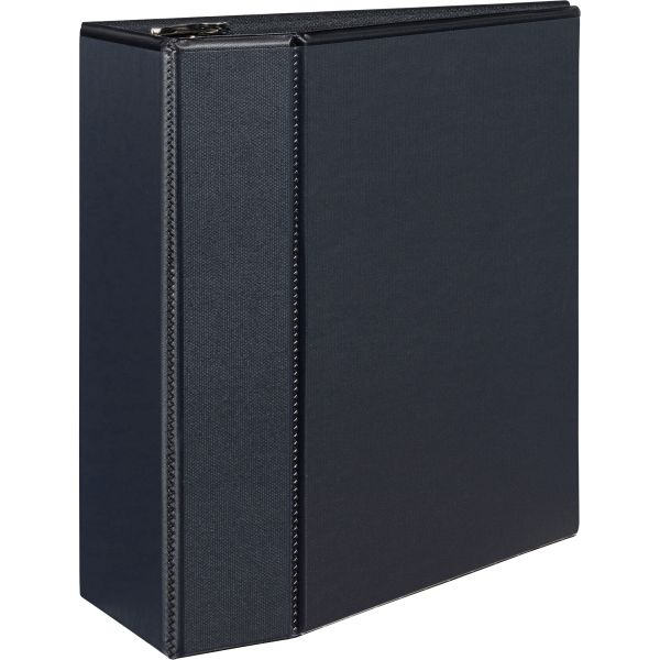 "Avery Durable 3-Ring View Binder w/Locking EZD Rings, 5"" Capacity, Black"